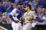 Wild Card Game - Oakland Athletics v Kansas City Royals Photographic Print by Ed Zurga