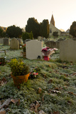 Gravestones in Churchyard Photographic Print by Tim Kahane