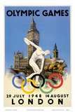 XIV Olympic Summer Games, London, England, July 29 to August 14, 1948 Kunst af Walter Herz
