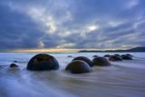 Moeraki Boulders Massive Spherical Rocks at Dawn Photographic Print