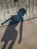 Childs Shadow on Wall Photographic Print by Clive Nolan