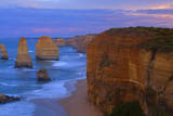 Twelve Apostles Sunset Sandstone Rock Formations Photographic Print