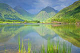 Mountain Scenery Reflection of Buachaille Etive Photographic Print