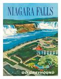 Niagara Falls, Ontario, Canada, New York, USA Giclée-tryk af S. Fleming