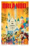 Orlando, Florida, USA, Walt Disney World Resort, National Airlines Planscher