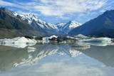 Mount Cook Scenery Stunning Mountains and Tasman Photographic Print