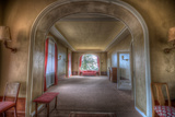 Abandoned Lounge Area in Old Hotel Photographic Print by Nathan Wright
