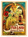 Jamaica Rum, Art Nouveau, La Belle Époque Prints by Alphonse Mucha