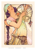 Gypsy, Art Nouveau, La Belle Époque Prints by Alphonse Mucha