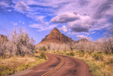 Scenic Road Scene at Kolob Canyon Road, Southern Utah Photographic Print by Vincent James