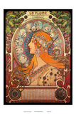 Calendar, Art Nouveau, La Belle Époque Prints by Alphonse Mucha