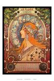 Calendar, Art Nouveau, La Belle Époque ポスター : アルフォンス・ミュシャ