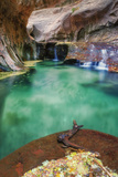 Underground Pool at The Subway, Zion National Park Photographic Print by Vincent James