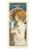 Feather, Art Nouveau, La Belle Époque Prints by Alphonse Mucha