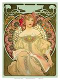 Champagne, Art Nouveau, La Belle Époque Plakater af Alphonse Mucha