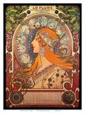 Calendar, Art Nouveau, La Belle Époque Kunst von Alphonse Mucha