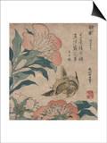 Peony and Canary, circa 1825 Prints by Katsushika Hokusai