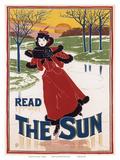 """Read """"The Sun"""", Art Nouveau, La Belle Époque Posters par Louis John Rhead"""