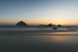 Bandon Sunset Silhouettes, Oregon Coast Photographic Print by Vincent James