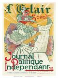 L'Éclair, Journal Politique Indépendant, Art Nouveau, La Belle Époque Posters by H. Thomas
