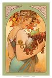 Fruit, Art Nouveau, La Belle Époque Pósters por Alphonse Mucha