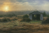 Mendocino Coast Shack and Morning Sun Photographic Print by Vincent James
