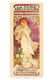 Alphonse Mucha - La Dame aux Came?lias Art Nouveau, La Belle Époque Plakát