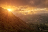 Misty Golden Sunset at the Marin Headlands Photographic Print by Vincent James