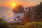 Setting Sun at Trinidad, Northern California Coast Photographic Print by Vincent James