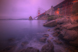 Purple Haze at The Golden Gate Bridge, San Francisco Photographic Print by Vincent James