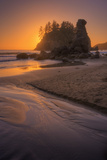 Sunset Beachscape at Trinidad, California Coast Photographic Print by Vincent James