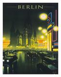 Deutschland (Germany), Kaiser Wilhelm Memorial Church, Berlin, Deutsche Reichsbahn Giclee Print by Jupp Wiertz