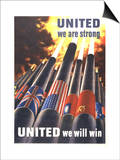 Henry Koerner - United We are Strong, United We Can Win - Poster