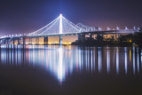 Oakland Bay Bridge, Night Reflection Photographic Print by Vincent James