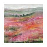 Raspberry Rolling Hills Giclee Print by Rikki Drotar