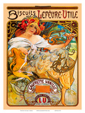 Biscuits, Art Nouveau, La Belle Époque Prints by Alphonse Mucha