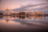Downtown Oakland Reflection at Lake Merritt Photographic Print by Vincent James