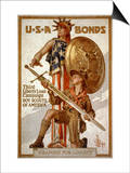 Joseph Christian Leyendecker - U*S*A Bonds, Third Liberty Loan Campaign, Boy Scouts of America Weapons for Liberty - Sanat