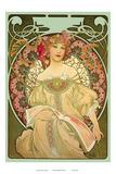 Champagne, Art Nouveau, La Belle Époque Pósters por Alphonse Mucha