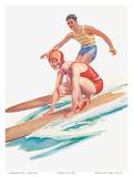 Surfing, Steamship S.S. Matsonia, Matson Line (Matson Navigation Company) Prints