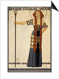 Richard Strauss Music Festival, circa 1910 Plakater af Ludwig Hohlwein