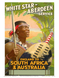 England to South Africa & Australia, White Star Line, Aberdeen Service Prints by E. Waters
