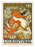 L'ermitage, Art Nouveau, La Belle Époque Prints by Paul Berthon