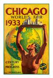Chicago World's Fair 1933, Century of Progress, Santa Fe Railroad Giclée-Druck von Hernando Villa