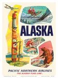 Alaska USA, The Alaska Flag Line, Pacific Northern Airlines Prints