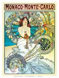Monte Carlo, Art Nouveau, La Belle Époque Prints by Alphonse Mucha
