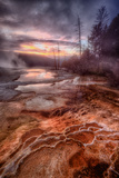 Colorful Geo Thermal Morning, Mammoth Hot Springs Photographic Print by Vincent James