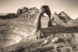 Alternate View at Delicate Arch (Sepia Toned), Utah Photographic Print by Vincent James