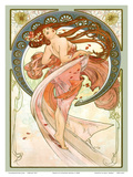 Dance, Art Nouveau Beauty Art by Alphonse Mucha