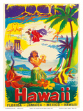 Hawaii, The Island State Prints by Børge Larsen